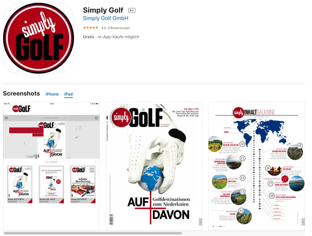 Die SimplyGolf App