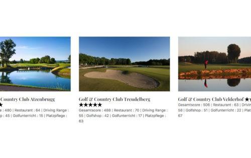 Golfplatz-Klassifizierung: Von Stars & Sternen