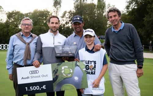 Riegler&Partner Legends: Campbell (NZL) bei Audi Shoot Out erfolgreich